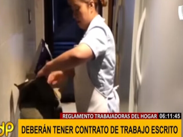 Trabajadoras del hogar: reglamento establece que deberán tener contrato de trabajo escrito