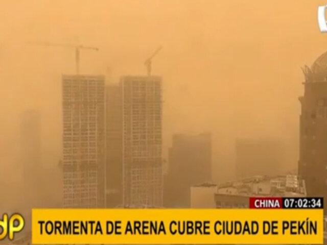 China: Tormenta de arena se registra por tercera vez en cinco semanas