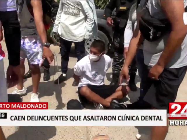 Puerto Maldonado: caen delincuentes tras asaltar clínica dental