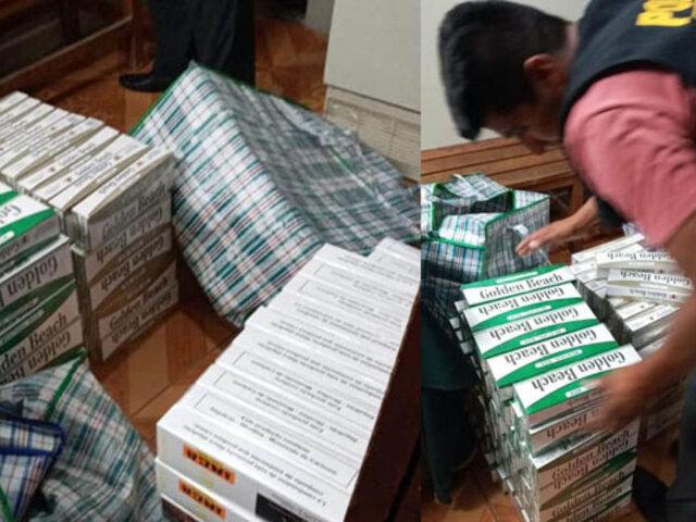 Incautan miles de cigarros de contrabando en un bus interprovincial que se dirigía a Lima