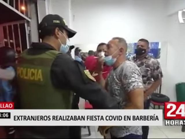 Callao: intervienen a extranjeros que realizaban 'fiesta covid' en barbería