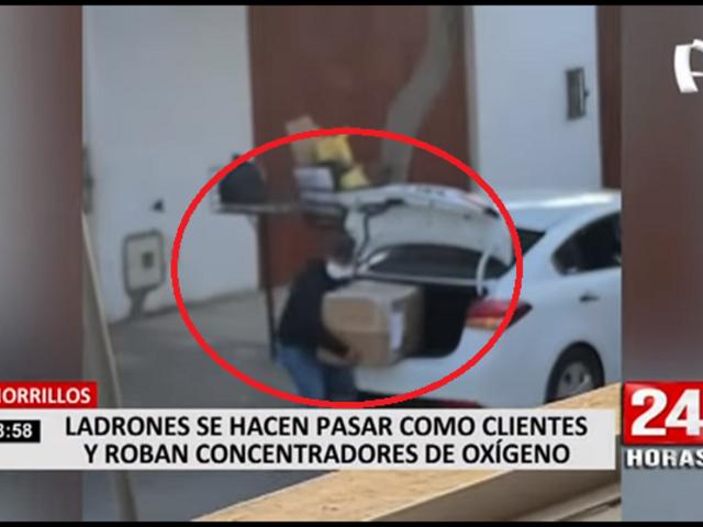 Chorrillos: delincuentes fingen ser clientes y roban concentradores de oxígeno