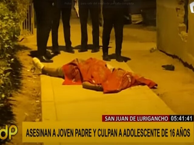 SJL: pandilleros asesinan a padre de familia que vendía mascarillas