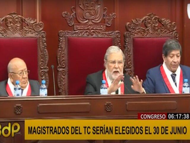 Tribunal Constitucional: magistrados serán elegidos el 30 de junio