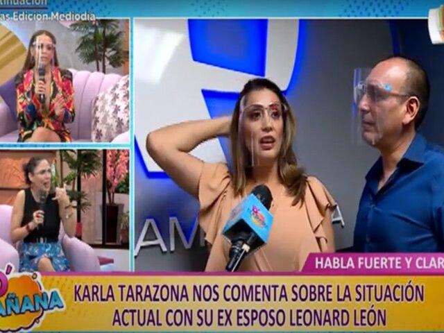 Picantitas del espectáculo: Karla Tarazona explica situación legal con su exesposo Leonard León