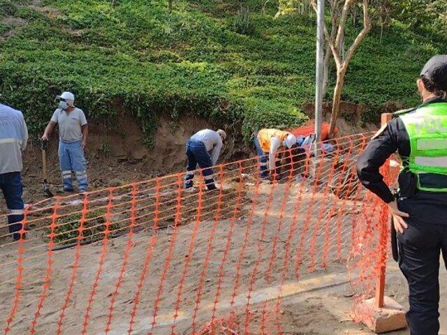 Surco: personal de Ornato halló restos óseos humanos en Loma Amarilla