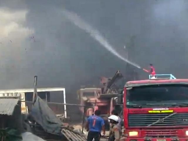 Huachipa: explosión en fábrica de aceite provocó un incendio de grandes proporciones