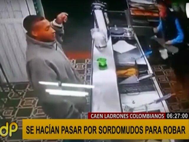 Capturan a delincuentes colombianos que se hacían pasar por sordomudos
