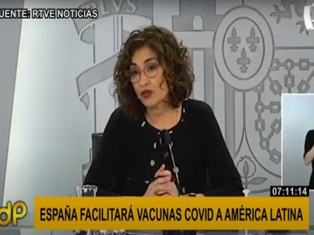 COVID-19: España anuncia que facilitará vacunas a América Latina