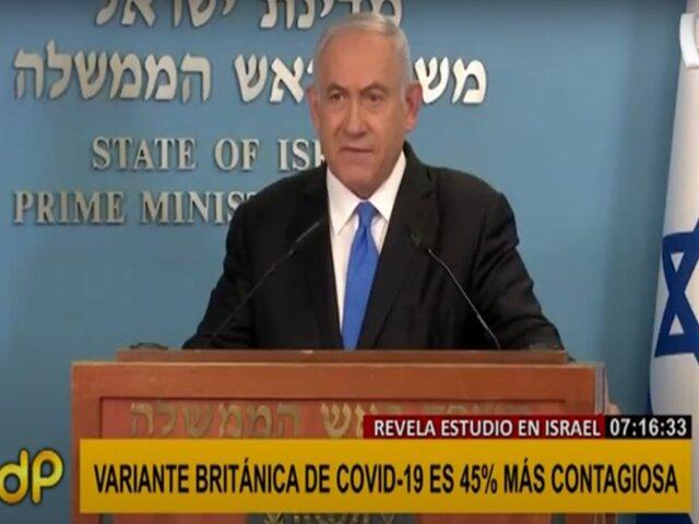 Variante británica sería mucho más contagiosa, según estudio israelí