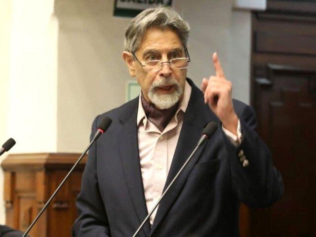 Francisco Sagasti pide un acceso equitativo y oportuno a las vacunas anticovid