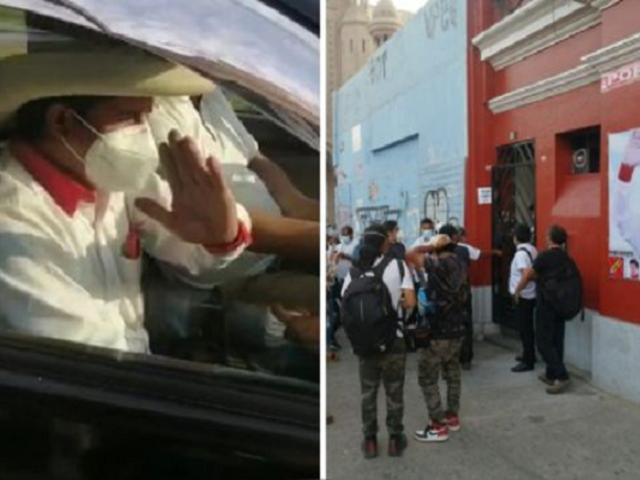 Pedro Castillo permaneció en su local partidario y se prepara para visitar las regiones del país