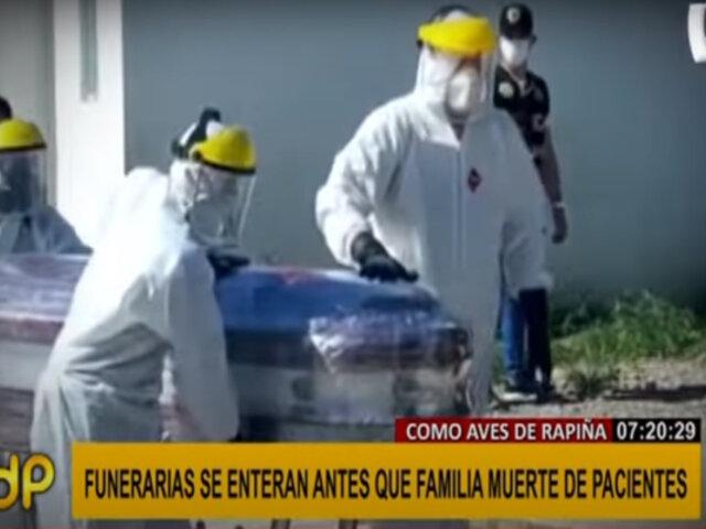 Hospital de Pisco: funerarias se enteran de muerte de pacientes covid antes que las propias familias