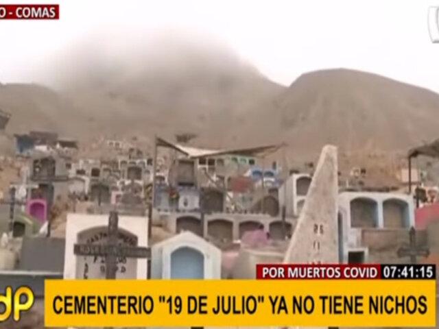 Cementerio de Comas por colapsar: falta de control y difícil acceso a camposanto