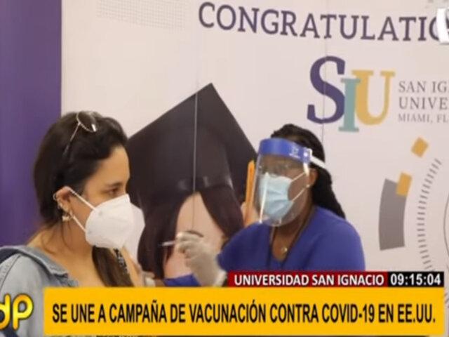 Universidad San Ignacio se une a campaña de vacunación contra la covid-19 en EEUU
