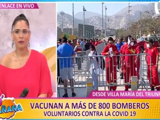VMT: vacunan a más de 800 bomberos voluntarios contra la covid-19