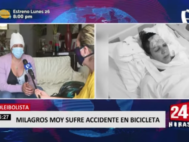 Voleibolista Milagros Moy sufre accidente en bicicleta