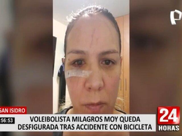 San Isidro quitó rama de árbol que sobresalía y ocasionó accidente a voleibolista Milagros Moy