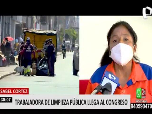 Isabel Cortez, la trabajadora de limpieza pública que es virtual congresista