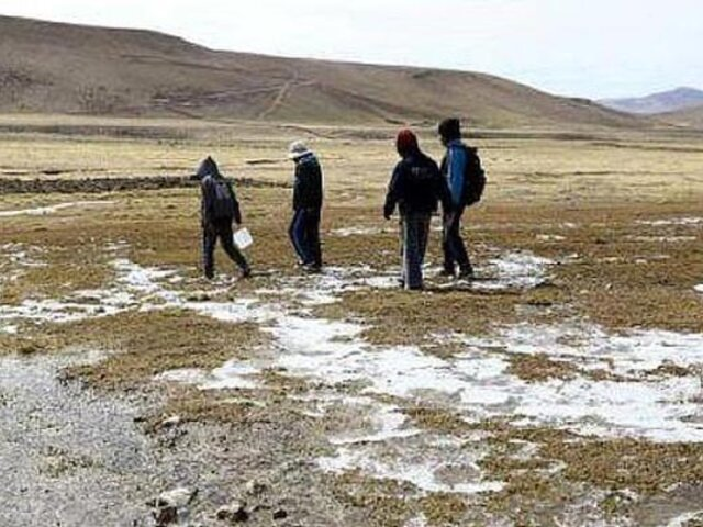 Huancayo: niños y adultos mayores en peligro por helada que llega a bajo cero grados