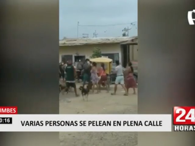 Varias personas protagonizaron violenta pelea callejera en Tumbes