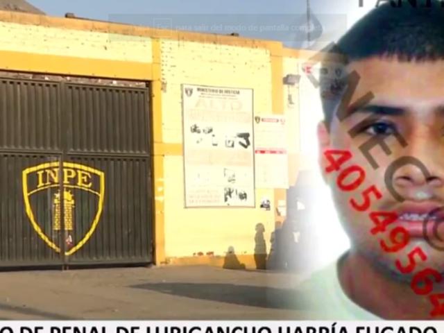 Denuncian que un reo del penal de Lurigancho habría fugado