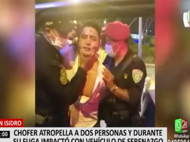 San Isidro: sujeto que atropelló a cuatro personas tiene antecedentes