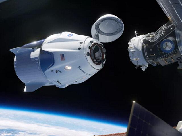 """Space X: La cápsula del """"Crew Dragon"""" llegó con éxito a la Estación Espacial Internacional"""