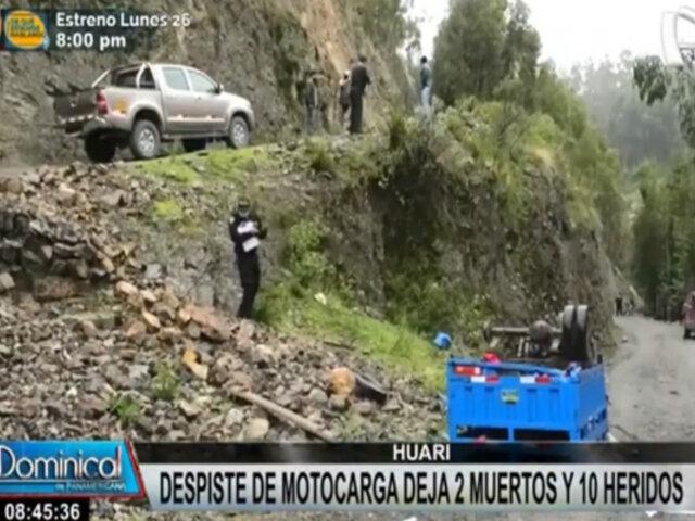 Huari: al menos 2 muertos y 10 heridos tras despiste de motocarga