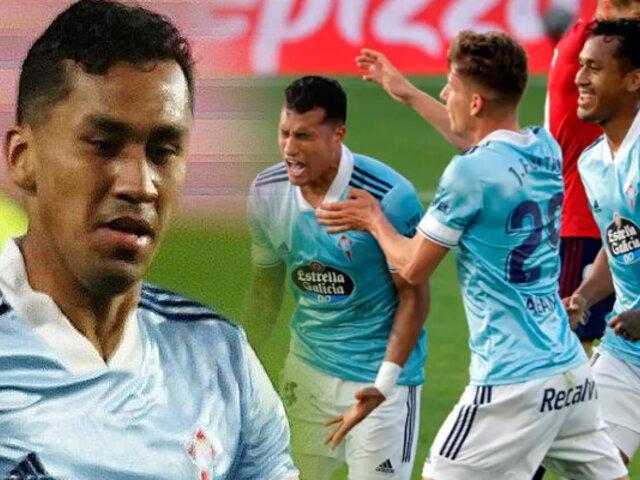 Renato Tapia: Celta de Vigo regresó al triunfo venciendo 2-1 a Osasuna