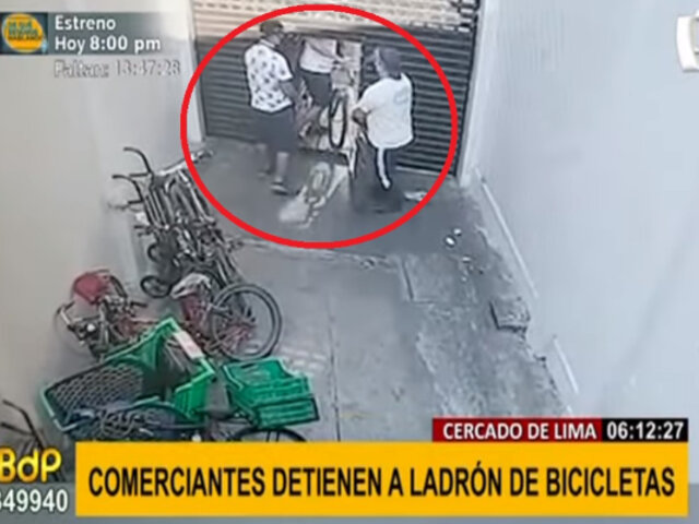 Cercado de Lima: comerciantes casi linchan a sujeto por intentar robar bicicletas