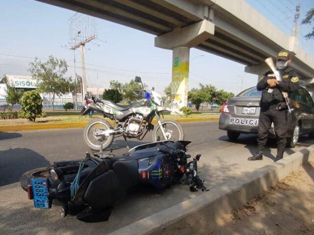 SJL: repartidor pierde la vida tras aparatoso accidente en motocicleta