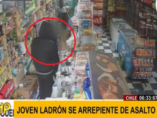 Adolescente con arma en mano se arrepiente de asalto tras hablar con dueña
