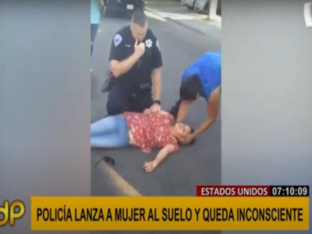 Nuevo caso de brutalidad policial en EEUU: lanzan a mujer al suelo y la dejan inconsciente