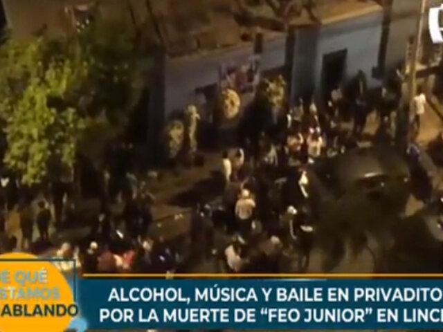 Velorio en Lince: alcohol, música y baile tras la muerte de delincuente alias 'Feo Junior'