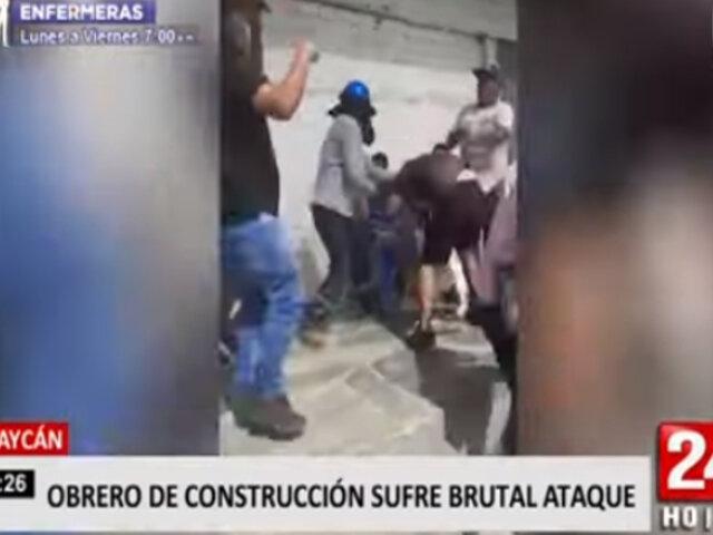 Huaycán: obrero queda gravemente herido tras brutal enfrentamiento