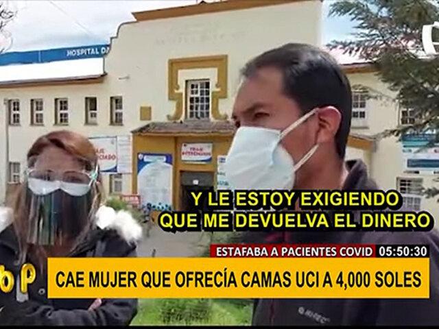 Indiferencia en pandemia: joven denuncia que mujer le pidió S/.4 mil por cama UCI