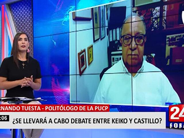 """Fernando Tuesta: """"ni en los mejores sueños Pedro Castillo pensó que llegaría a segunda vuelta"""""""
