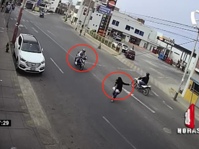 Moto a toda velocidad atropella a mujer en Huacho