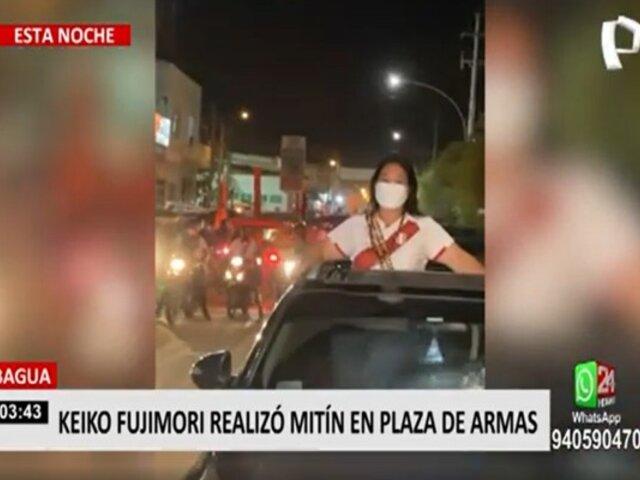 Elecciones 2021: Keiko Fujimori realizó mitin en Bagua Grande