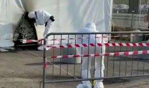 Italia: capturan a dos sujetos que incendiaron un local de vacunación contra la Covid-19