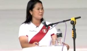 Debate en Chota: Keiko Fujimori calificó la educación virtual como un fracaso