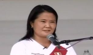 """Keiko Fujimori a Castillo: """"Si no tiene pantalones, quizá permita que Cerrón debata conmigo"""""""