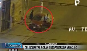Capturan a delincuente que robó autopartes de auto en El Agustino