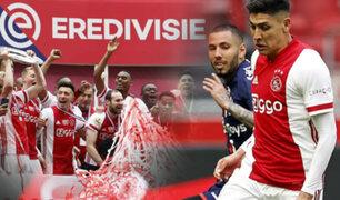 Ajax campeona tras golear al FC Emmen de Peña y Araujo