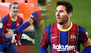 Barcelona vence al Valencia con doblete de Messi