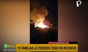 Tumbes: cerca de 10 viviendas se habrían incendiado por explosión de balón de gas