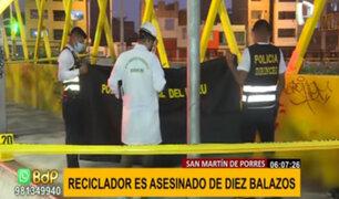 SMP: reciclador es asesinado de 10 balazos por presunto ajuste de cuentas