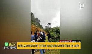 Impresionantes imágenes deja deslizamiento de tierra en carretera de Jaén