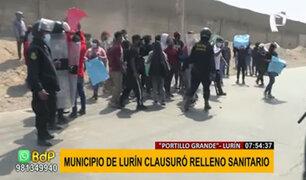 Relleno sanitario en Lurín: protestan contra empresa por dejar desechos hospitalarios al aire